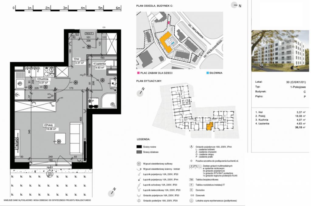 C 30 2 pokoje 1024x678 - Inwestycja Nowe Żegrze - Poznań, Nowe Miasto, ul. Byteńska