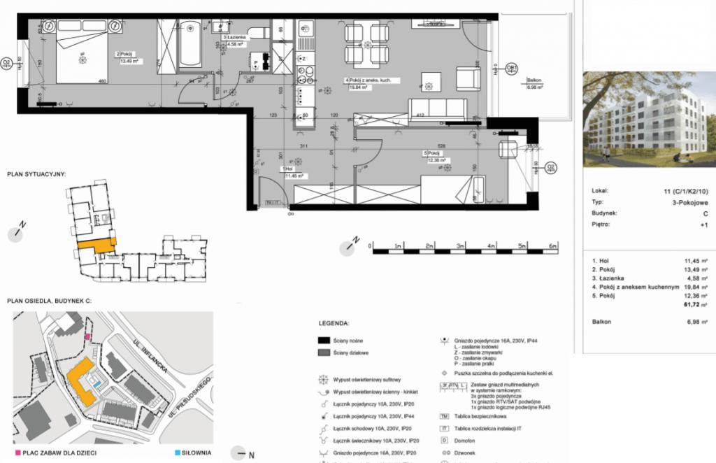 C11 dom poznań 1024x662 - Inwestycja Nowe Żegrze - Poznań, Nowe Miasto, ul. Byteńska
