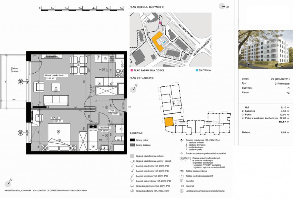 C22 mieszkanie 1024x692 - Inwestycja Nowe Żegrze - Poznań, Nowe Miasto, ul. Byteńska
