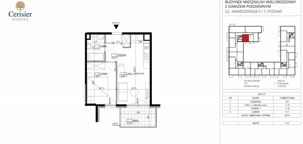 deweloper poznań AA0101 1024x487 - Inwestycja Cerisier Residence - Poznań, Grunwald, ul. Smardzewska
