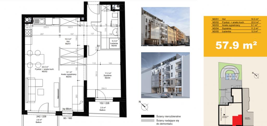 mieszkanie na sprzedaż M2 1024x482 - Inwestycja Sielska 14 - Poznań, Górczyn, ul. Sielska