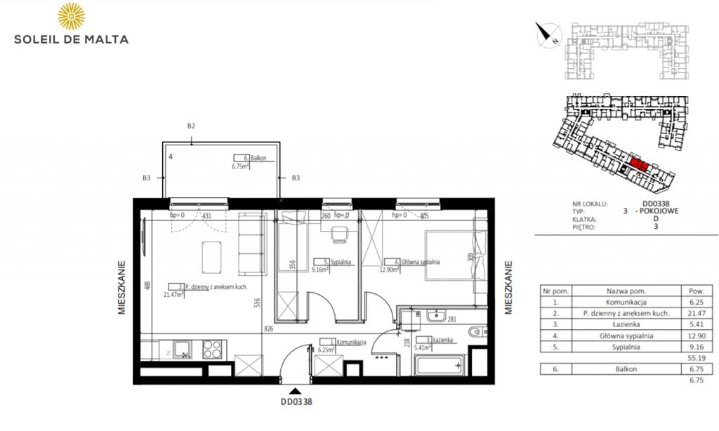 mieszkanie poznań 1024x614 - Inwestycja Soleil de Malta - Poznań, Nowe Miasto, ul. Milczańska