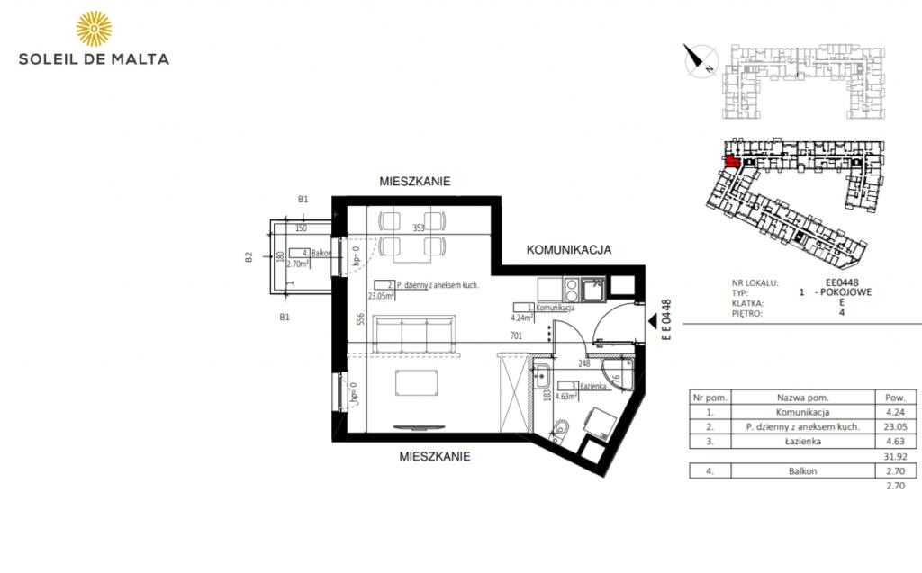 mieszkanie z balkonem poznań 1024x637 - Inwestycja Soleil de Malta - Poznań, Nowe Miasto, ul. Milczańska