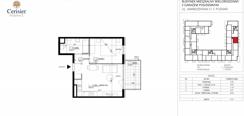 pięć pokoi na sprzedaż AD0305 1024x486 - Inwestycja Cerisier Residence - Poznań, Grunwald, ul. Smardzewska